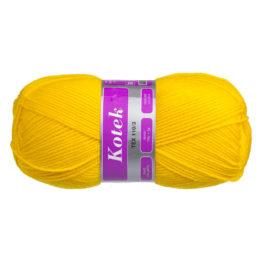 Włóczka Arelan Kotek 33-2201 żółty polski akryl, produkowany w Łodzi. Mięciutki, występuje w wielu pięknych kolorach. 300 m w 100 g