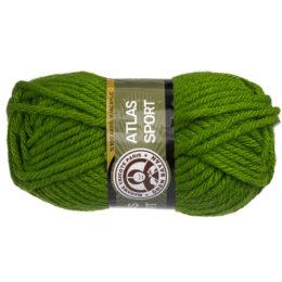 Włóczka MTP Atlas Sport 087 w kolorze zielonym to ciepły gruby akryl w typie bulky. Świetna na zimowe akcesoria. 100g/65m