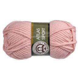 Włóczka MTP Atlas Sport 119 w kolorze różowym to ciepły gruby akryl w typie bulky. Świetna na zimowe akcesoria. 100g/65m