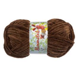 Opus Natura Aksamitek 05 w kolorze ciepłego brązu to pluszowa włóczka idealna do tworzenia zabawek. Motki 50g/60m, szydełko 3.5-4mm