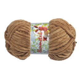 Opus Natura Aksamitek 07 w kolorze jasnego brązu to pluszowa włóczka idealna do tworzenia zabawek. Motki 50g/60m, szydełko 3.5-4mm