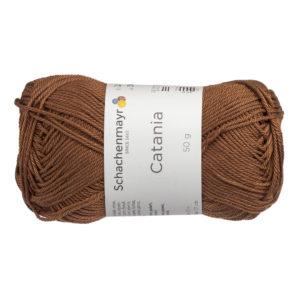 Schachenmayr Catania 00157 to bawełniana włóczka w kolorze brązowym. Pięknie skręcona, z połyskiem. 50g/125m.