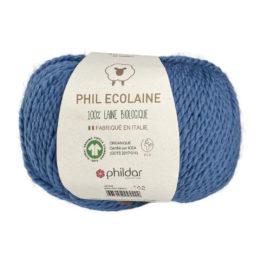Phildar Phil Ecolaine 1089 w kolorze jeansowym to 100% organicznej wełny. Idealna na czapki i inne zimowe akcesoria. 50g/125m