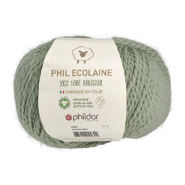 Phildar Phil Ecolaine 1099 w kolorze szałwi to 100% organicznej wełny. Idealna na czapki i inne zimowe akcesoria. 50g/125m