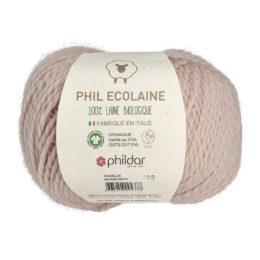 Phildar Phil Ecolaine 1264 w kolorze pudrowego różu to 100% organicznej wełny. Idealna na czapki i inne zimowe akcesoria. 50g/125m