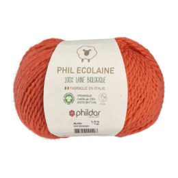 Phildar Phil Ecolaine 1333 w kolorze rudym to 100% organicznej wełny. Idealna na czapki i inne zimowe akcesoria. 50g/125m