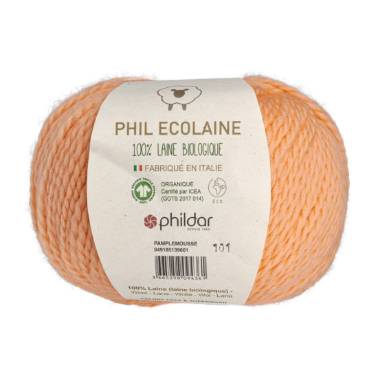 Phildar Phil Ecolaine 1396 w kolorze morelowym to 100% organicznej wełny. Idealna na czapki i inne zimowe akcesoria. 50g/125m