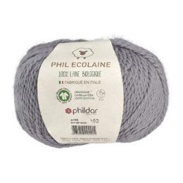 Phildar Phil Ecolaine 1447 w kolorze szarym to 100% organicznej wełny. Idealna na czapki i inne zimowe akcesoria. 50g/125m