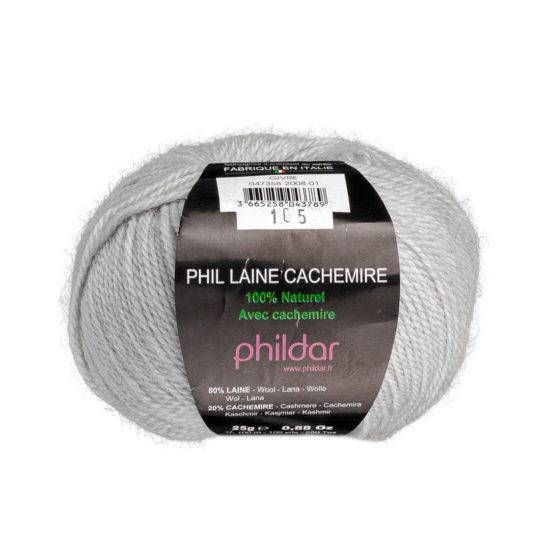 Włóczka Phildar Phil Laine Cachemire 2008to mieszanka wełny i kaszmiru wyprodukowana we Włoszech. 25g/109m